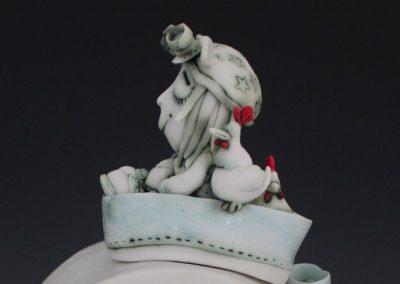 Fleur Schell: Lid of Heidi's Menagerie Teapot
