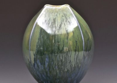 Salt Glazed Porcelain Vessel by John Dermer