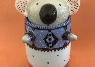 Lidded Koala Vessel by Alison Smiles