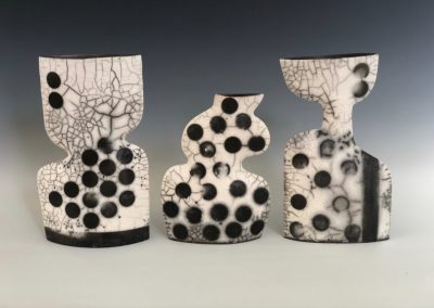 Raku Vessels by Catherine Tate