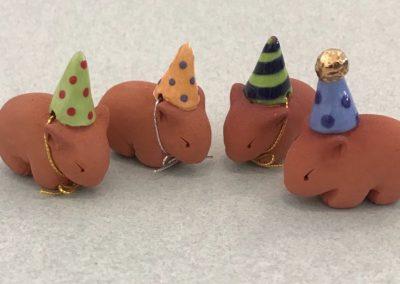 Tiny Party Wombats by Barbi Lock Lee