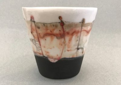 Porcelain Beaker by Marina Pribaz