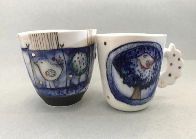 Porcelain Cups by Marina Pribaz