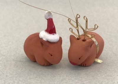 Santa Wombat and Rudolph the Red Nosed Wombat by Barbi Lock Lee