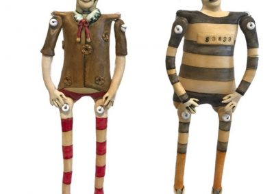 Ceramic Puppets by Debra Powell