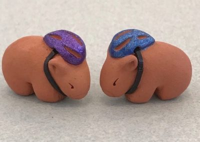 Tiny Bike Riding Wombats by Barbi Lock Lee