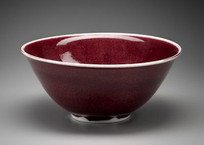 Copper Red Porcelain Bowl by Steve Sheridan
