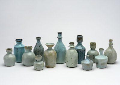 Asahi So - small Stoneware vessels with Chun glaze