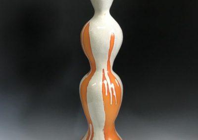 Jules Irving - tall raku sculpture