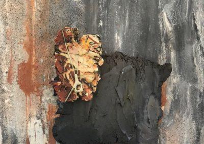 Sue Buckle - (detail) wall piece