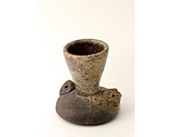 No 84.  Wood Fired Unglazed Vase, Natural Ash  Height 165mm  $500