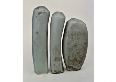 No 86.  Pale Blue Guan Glaze Triptych. Height 260mm  $1300