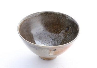 No 10.  Tenmoku Style Bowl with Felspathic Glaze  Diam 123mm  $700