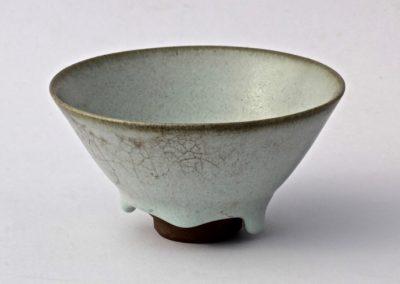 No 13.  Tenmoku Style Bowl with Guan Style Glaze  Diam 118mm  $500
