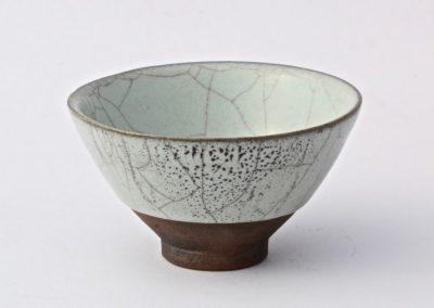 No 14.  Tenmoku Style Bowl with Guan Style Glaze  Diam 105mm  $400