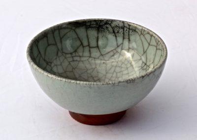 No 16.  Song Influenced Bowl, Granite Celadon Glaze  Diam 118mm  $500