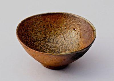 No 23.  Unglazed Woodfired Bowl  Crushed Stone Body  Diam 124mm  $400